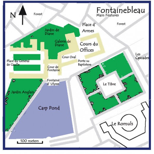 Fontainebleau Map of Grounds and Palace