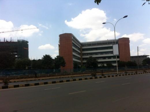 An established bank in Kenyas capital Nairobi