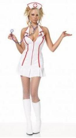 Head Nurse Halter Dress Adult Costume