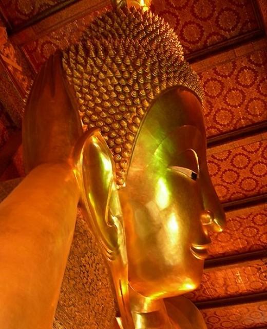 Head of the Reclining Buddha, Wat Po.