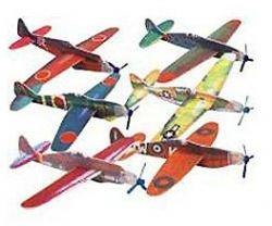 Foam World War II Airplane Gliders