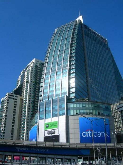 Building at Asoke/Sukhumvit junction