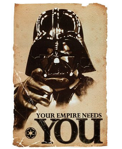 Your Empire Needs You Darth Vader Poster on Amazon.com