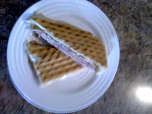 finished pressed Cuban Sandwich