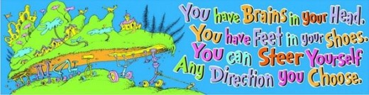 Dr. Seuss Classroom Banner, Oh The Places, 12 x 45 Inches
