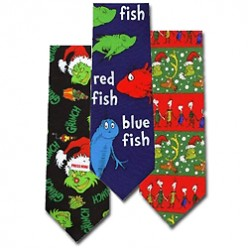 Dr Seuss Novelty Ties