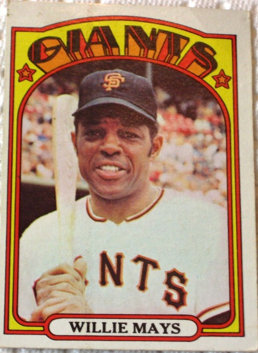 Willie Mays, 1972 Topps card