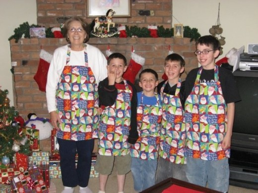 My mom and her grandsons