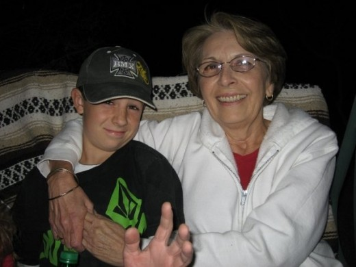 My mom and one of her grandsons