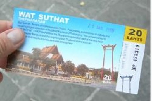 Entry ticket for Wat Suthat by Nick Upton