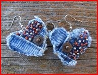 http://www.etsy.com/listing/92008464/earring-heart-shaped-recycled-denim-hand