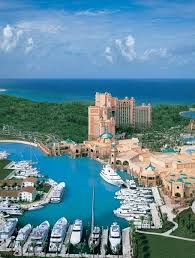 An aerial view of Atlantis Paradise Island
