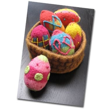 KnitWhits Eggs and Basket Knitting Kit