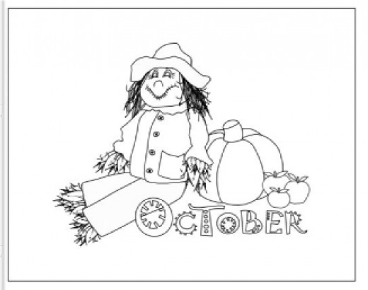 Best Coloring Books Ever October Coloring Page