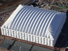 Temporary Basketball Arena