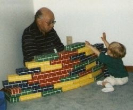 The Other Grandpa and The Boy Play with the Big Blocks