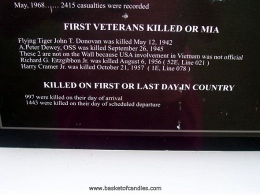 FIRST TO BE KILLED IN WAR OR MIA
