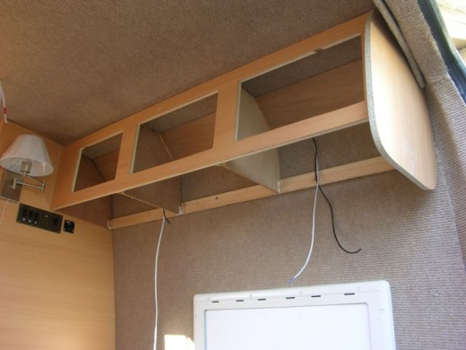 Overhead Lockers in My Camper Conversion