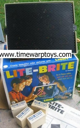 My sister used to do all of my pictures on my lite brite! Now I play with my daughter's lite brite! The pictures aren't near as fun though. Time Warp Toys has the best selection of 70's toys! Check them out!