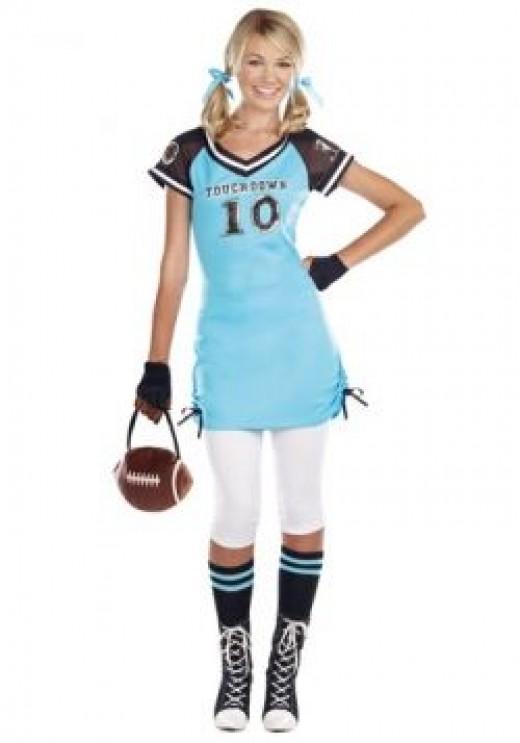 touchdown cutie teen girl costume