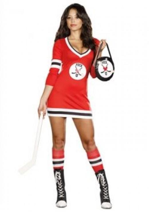 womens sexy hockey costume