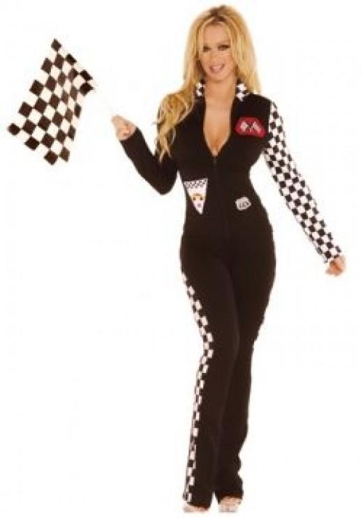 Sexy Ladies Race Car Driver Jumpsuit