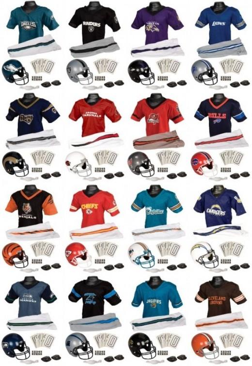 NFL kids uniform collage
