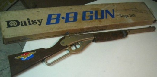 I still have my first Daisy BB gun! When I was 16, I kept it behind the seat of my dad's 1 ton chevy truck that I drove the wheels off of. (yes... I was a tomboy!)