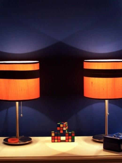 Indigo/Navy Blue Paired With Orange - Bedroom