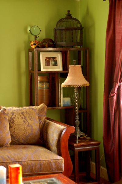 Living Room - Green Paired With Magenta