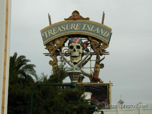 Treasure Island's original marquee