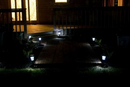 Solar yard lights. Photo by shidairyproduct on Flickr.