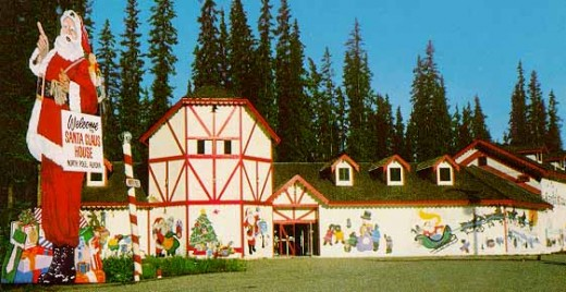 Santa's House In Summer Time