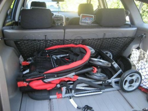Joovy Sit and Stand Stroller - Folded & fits in compact car~~Nice!