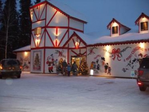 Santa's House In Winter