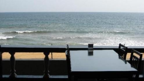 Atlantis Beach Hotel view from the restaurant.