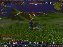 Fighting the ravenous windroc of Nagrand