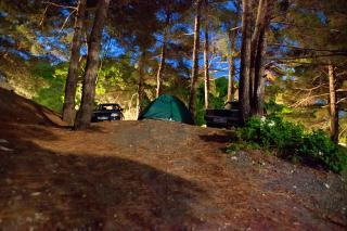 If you are looking for peace and quiet why not look for a campsite that has individual campsite in a woodland area.