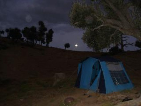 At night, camping becomes a pure adventure with hardships to over come and beauty all around you.