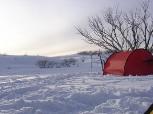 It is even possible to camp in the snow quite comfortably if you have the right tent.