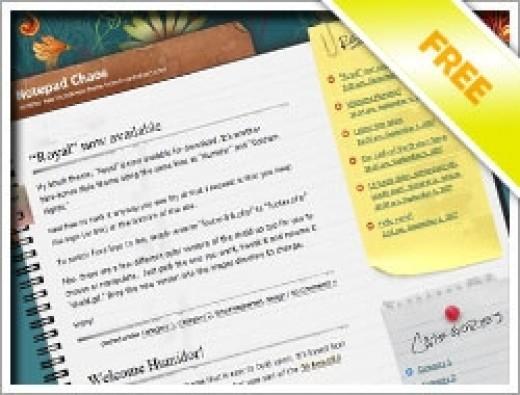 Wordpress Notepad Chaos Theme