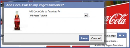 Facebook Page favorites