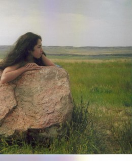 When buffalo still roamed the Canadian Plains, they used this glacial erratic to rub off excess shedding hair. The lone rock was buffed smooth by the habit.