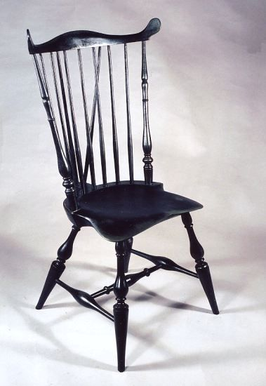 Connecticut Windsor Chair by Peter Wallace or Boston Fan-Back