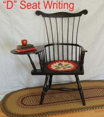 """D"" Seat Writing Arm Windsor Chair"
