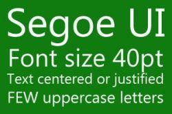 Xbox One Font Segoe