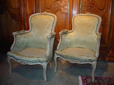 Louis XV Style Bergeres, 1715-1774, Rococo - A Photo Guide To Antique Chair Identification Dengarden