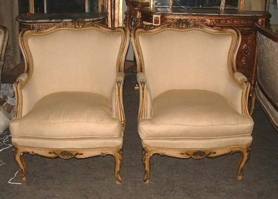 Chic French Painted Louis XV Bergere Chairs - A Photo Guide To Antique Chair Identification Dengarden