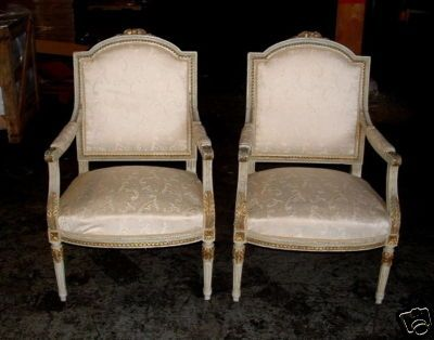 louis xvi chairs pair of chic french country painted