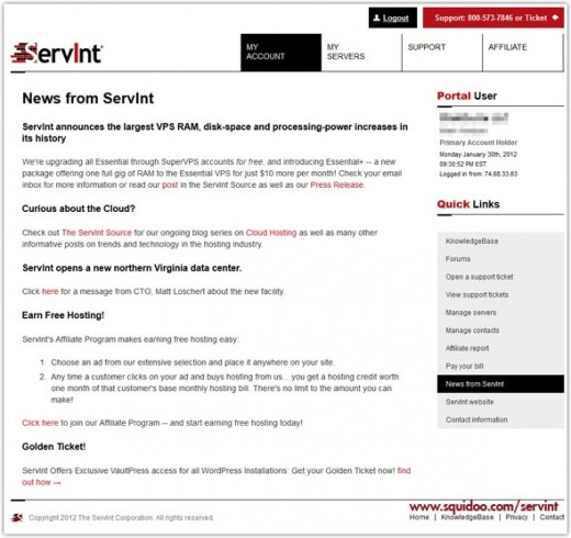ServInt Customer Portal